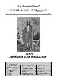 29. Jahrgang Ausgabe 1/2008 - Kirchenkreises Eschwege