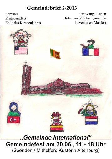 Gemeindebrief 2/2013 (Internet-Version) - Kirchenkreis Leverkusen