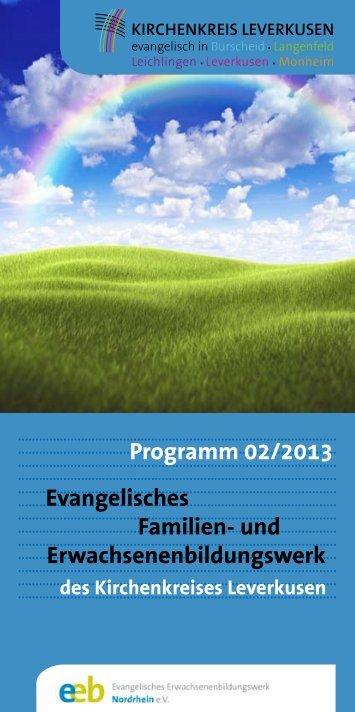 Programm 02/2013 - Evangelische Kirchengemeinde Langenfeld