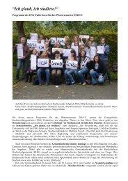 Programm der ESG Paderborn Wintersemester 2010/11