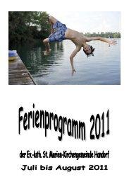 Ferienprogramm Juli – August 2011 - Kirchenkreis Winsen