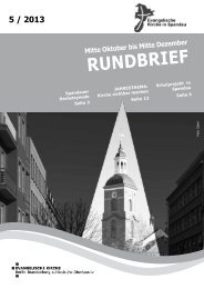 Rundbrief 5/2013 - Kirchenkreis Spandau