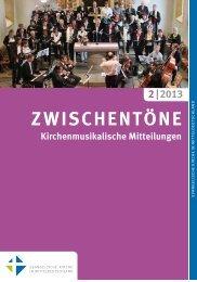 Heft 2/2013 - Kirchenmusik in der Evangelischen Kirche in ...