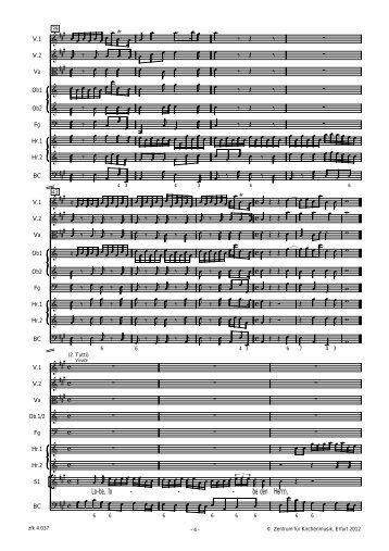 Sonata (Schluss) u. Eingangschor