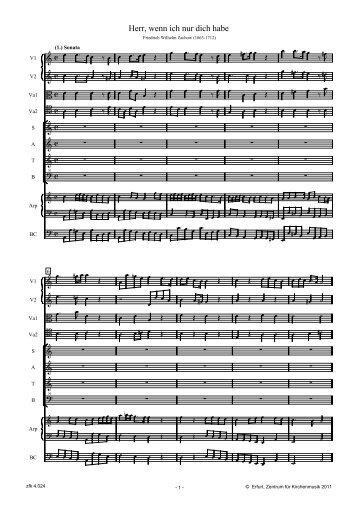 Sonata und Eingangschor