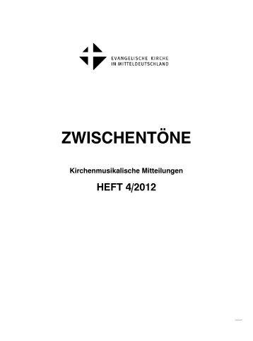 ZWISCHENTÖNE - Kirchenmusik in der Evangelischen Kirche in ...