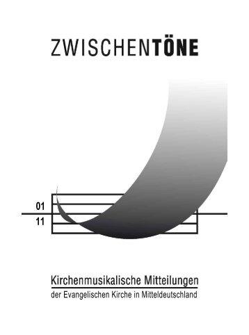 der Evangelischen Kirche in Mitteldeutschland - Kirchenmusik in der ...