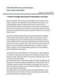 1. Bericht von Bertolt Bundschuh