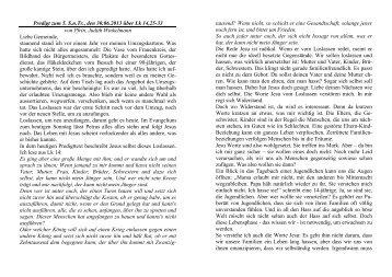 Predigt zum 5. S.n.Tr., den 30.06.2013 über Lk 14,25-33 von Pfrin ...