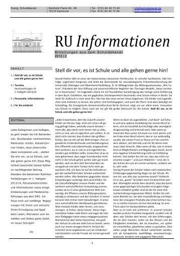 RU-Information 02/2013 - Systemisches Institut Karlsruhe