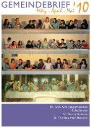Gemeindebrief März-Mai 2010 - Kirchenregion Schellerten
