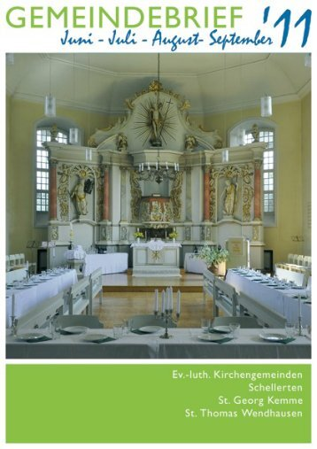 Gemeindebrief Juni-September 2011 - Kirchenregion Schellerten