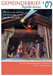 Gemeindebrief Dezember 2007 - Januar 2008 - Kirchenregion ...