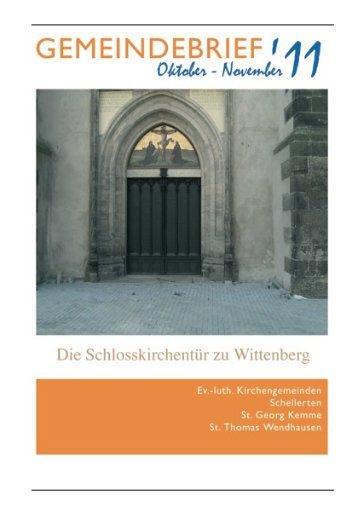 Gemeindebrief Oktober-November 2011 - Kirchenregion Schellerten