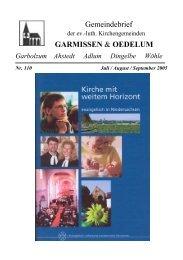 Gemeindebrief Juli-September 2005 - Kirchenregion Schellerten