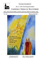 März bis Mai 2013 - Kirchenregion Schellerten