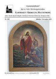 Oktober bis November 2011 - Kirchenregion Schellerten