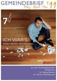 Gemeindebrief März-Mai 2011 - Kirchenregion Schellerten