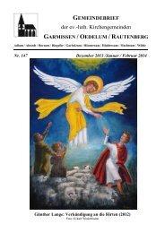 Gemeindebrief Dezember 2013 - Februar 2014 - Kirchenregion ...