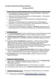 Kirchliche Umweltarbeit des Bistums Würzburg Schwerpunkte 2012 ...