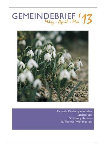Gemeindebrief März-Mai 2013 - Kirchenregion Schellerten