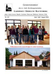 Gemeindebrief Juni-August 2010 - Kirchenregion Schellerten