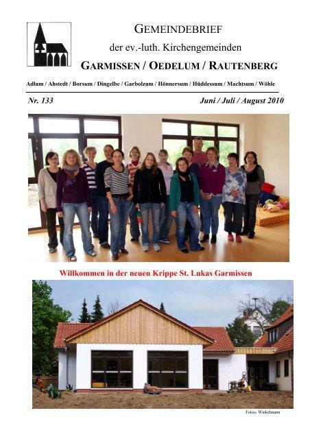 Gemeindebrief Juni-August 2010 - Kirchenregion Schellerten