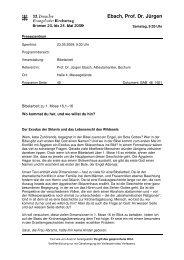 Ebach, Prof. Dr. Jürgen - kirchentag2009.de vortragsskript zum 32 ...