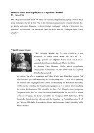 100 Jahre Seelsorge in der St. Engelbert