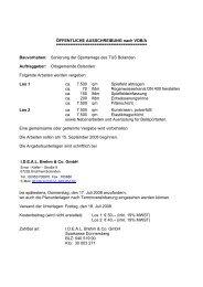 ÖFFENTLICHE AUSSCHREIBUNG nach VOB/A ...