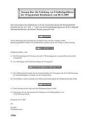 Satzung über die Erhebung von Friedhofsgebühren der ...