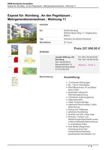 Exposé für: Nürnberg . An den Pegnitzauen ... - Kirchliche Immobilien
