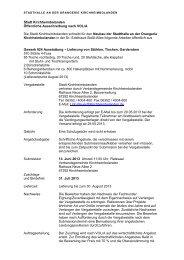 Öffentliche Ausschreibung gemäß § 17 VOB/A - Verbandsgemeinde ...