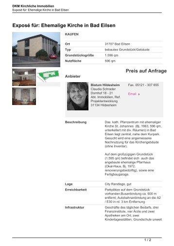 Exposé für: Ehemalige Kirche in Bad Eilsen - Kirchliche Immobilien