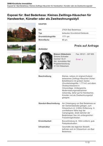 Exposé für: Bad Bederkesa - Kirchliche Immobilien