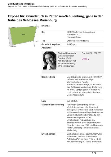 Exposé für: Grundstück in Pattensen-Schulenburg, ganz in der Nähe ...