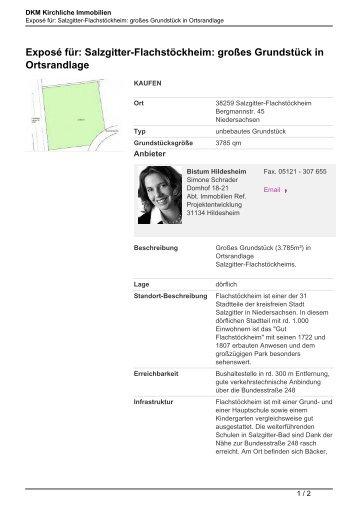 Exposé für: Salzgitter-Flachstöckheim: großes Grundstück in ...