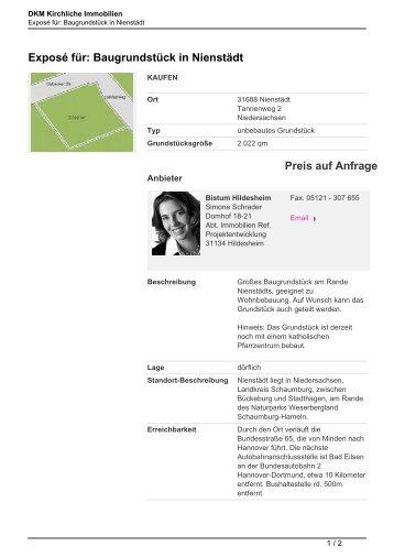 Exposé für: Baugrundstück in Nienstädt Preis auf Anfrage