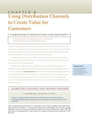 Using Distribution Channels to Create Value for Customers