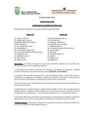 Temporada 2012 / 2013 C I R C U L A R    nº 23 CAMPEONATO 3ª ...