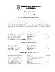 1 tercera división - grupo 9º tercera división - Federación Andaluza ...