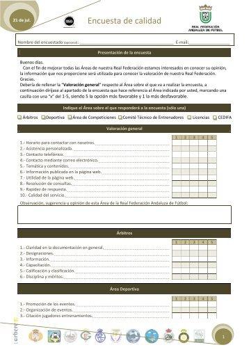 Modelo encuesta conjunta (PDF) - Federación Andaluza de Fútbol