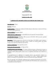 Temporada 2011 / 2012 C I R C U L A R    nº 20 CAMPEONATO 1ª ...
