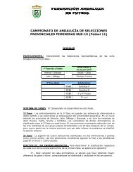 Normas Competición Sub- 15 Femenino - Federación Andaluza de ...