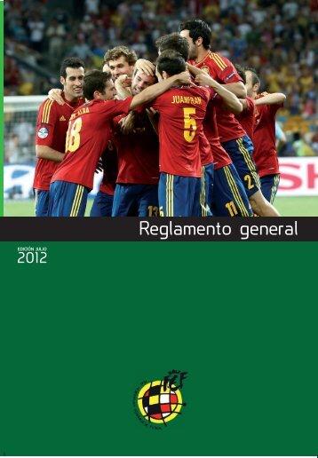 Reglamento general - Real Federación Española de Fútbol