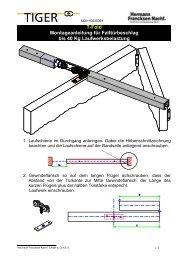 T-Fold Montageanleitung für Falttürbeschlag bis 40 Kg ... - G. Kirchner