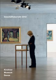 Kirchner Museum Davos Geschäftsbericht 2012