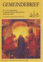 Gemeindebrief Dezember 2012 - Kirchspiel Lengenfeld Plohn ...