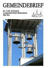 Gemeindebrief Mai 2011 - Kirchspiel Lengenfeld Plohn Röthenbach