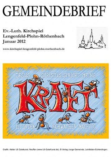 Gemeindebrief Januar 2012 - Kirchspiel Lengenfeld Plohn ...